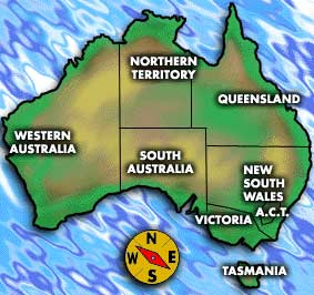 Simple Map of Australia
