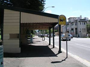 Tram waiting shed Bondi Road - Bus shelter Sydney