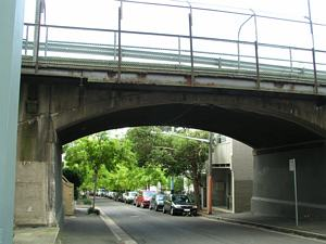 Cutler Footway - Tram Bridge over Barcom Avenue