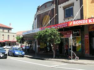 Bondi Road Rounded Corner Trams Royal Hotel Denhan Street