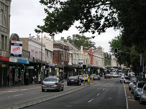 Paddington Shopping Centre - strip shopping - Oxford Street - Sydney tram remnants
