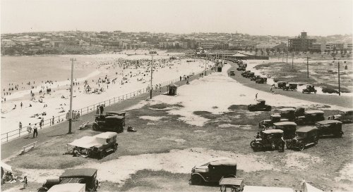 Bondi Beach 1920 from the north end