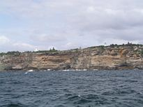Macquarie Lighthouse from the ocean - Nov 2012