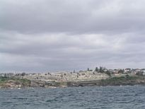 Waverley Cemetery from a boat - Nov 2012