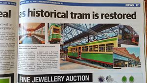 The Tramsheds, Glebe, Newspaper article